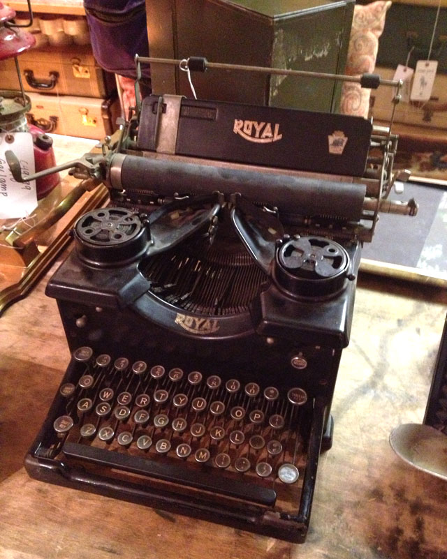 Royal typewriter ($50)