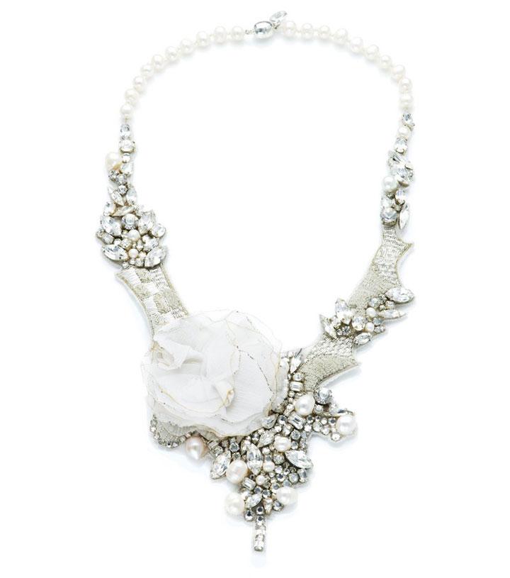 Ranjana Khan - crystal petal and pearl necklace: $212 (orig. $850)