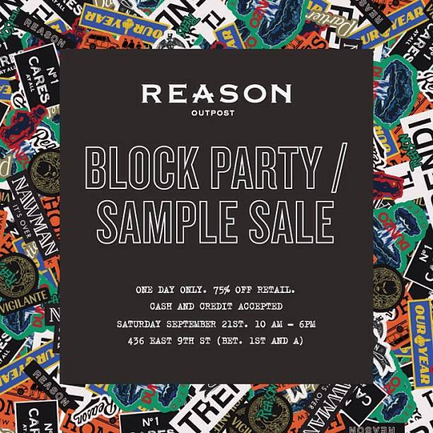 Reason Block Party/Sample Sale