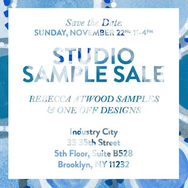 Rebecca Atwood Sample Sale
