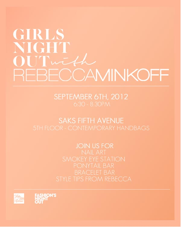 Rebecca Minkoff Fashion's Night Out Event