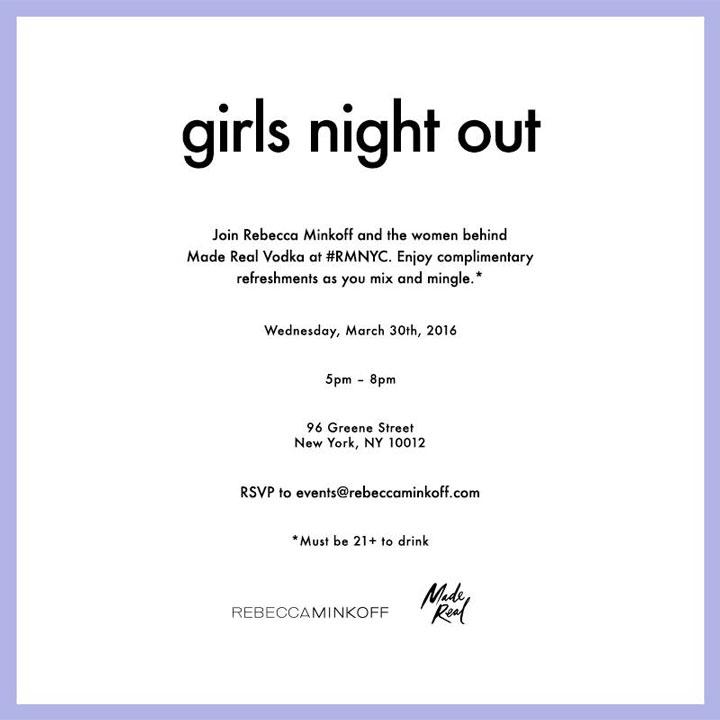 Rebecca Minkoff Girls Night Out