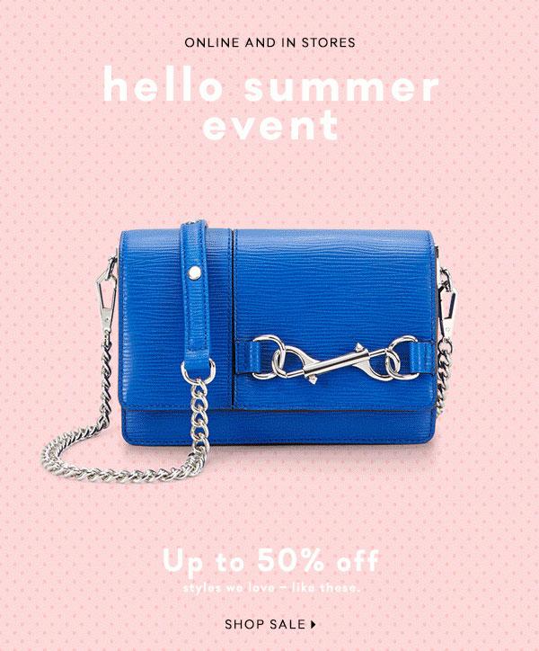 Rebecca Minkoff Hello Summer Sale