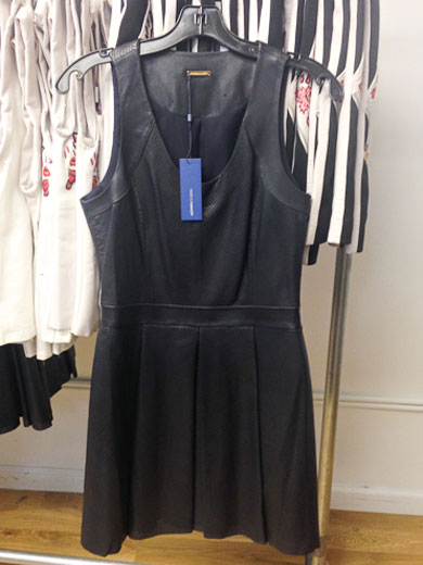 Leather fit-and-flare dresses for $400