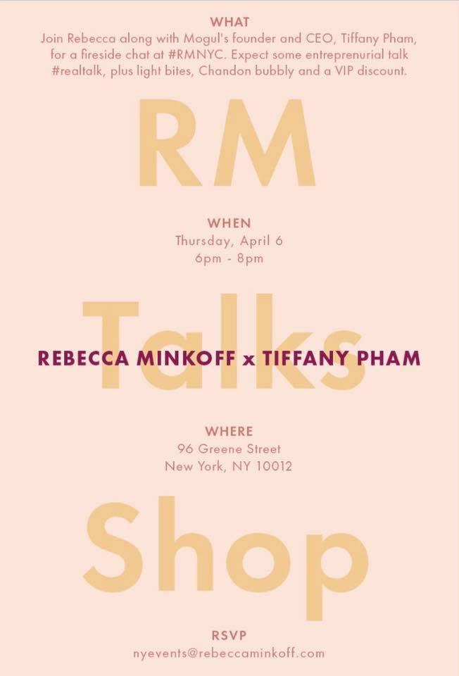 Rebecca Minkoff X Tiffany Pham Talk & Shop Event