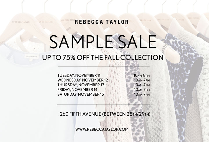 Rebecca Taylor Fall 2014 Sample Sale