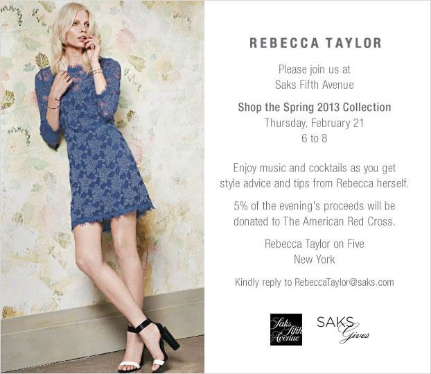 Rebecca Taylor Personal Appearance and Cocktail Event