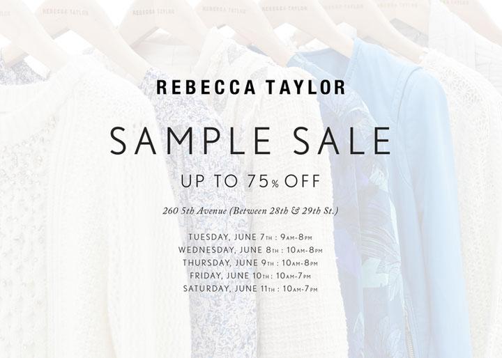 Rebecca Taylor Sample Sale