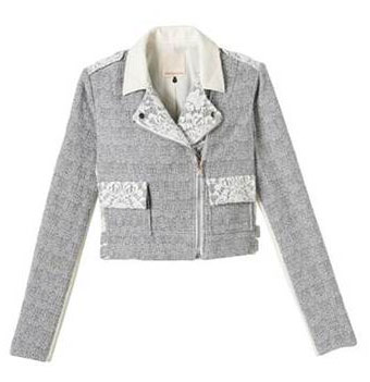 Tweed and lace cropped jacket: $159 (orig. $595)