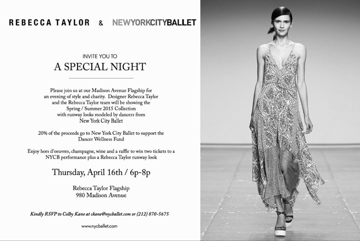 Rebecca Taylor x New York City Ballet Shopping Event