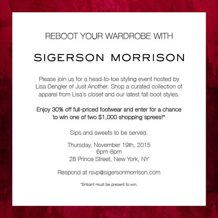 Reboot Your Wardrobe with Sigerson Morrison