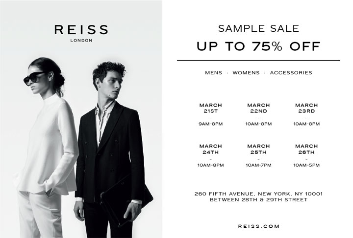 Reiss London Sample Sale