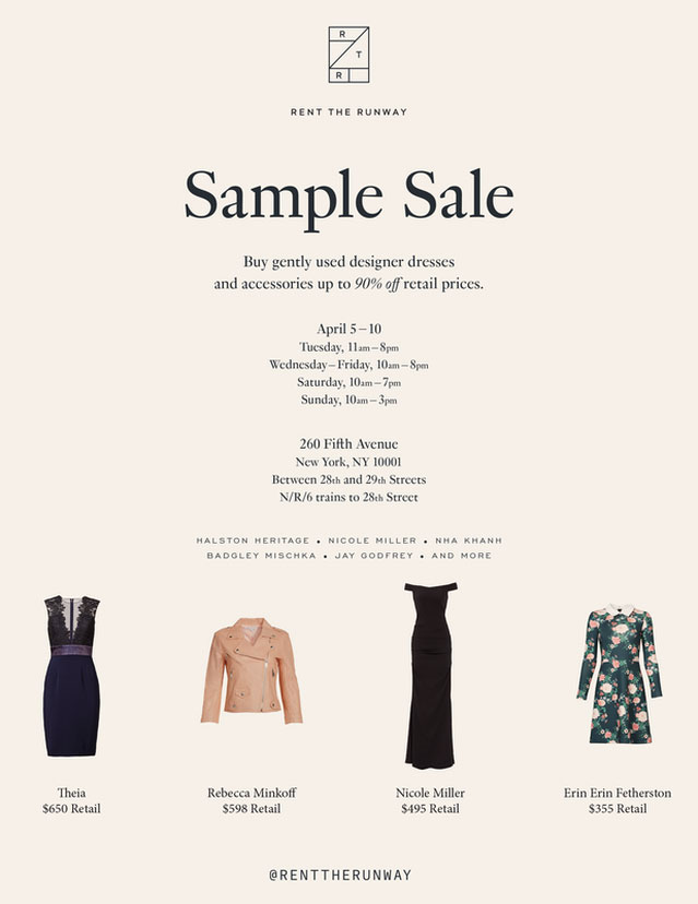 cb2a89c8cb Rent the Runway Clothing   Accessories New York Sample Sale