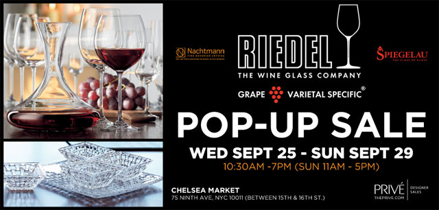 Riedel Glassware Pop-up Sale