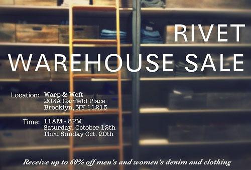 Rivet Brooklyn Warehouse Sale