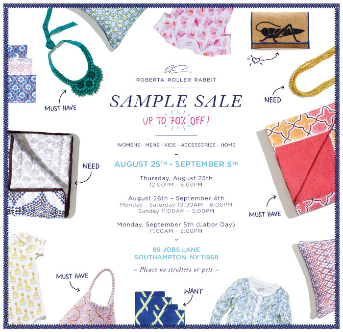 Roberta Roller Rabbit Southhampton Sample Sale