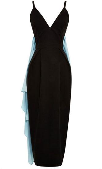 Rosie Assoulin black dress with blue sash: $998 (orig. $2485)
