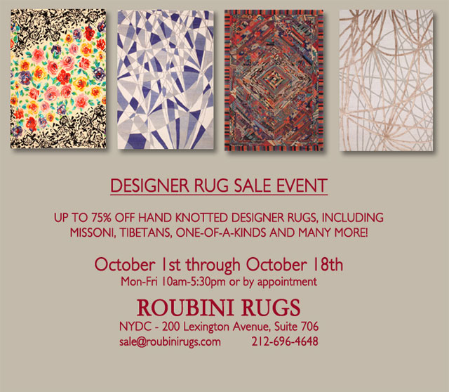 Roubini Rugs Designer Rug Sample Sale