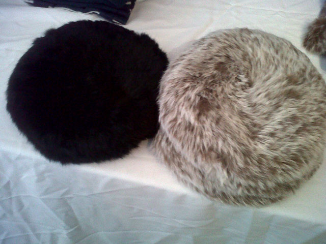 Round Rabbit Fur and Cashmere hats: $70 at Christopher Fisher Sample Sale