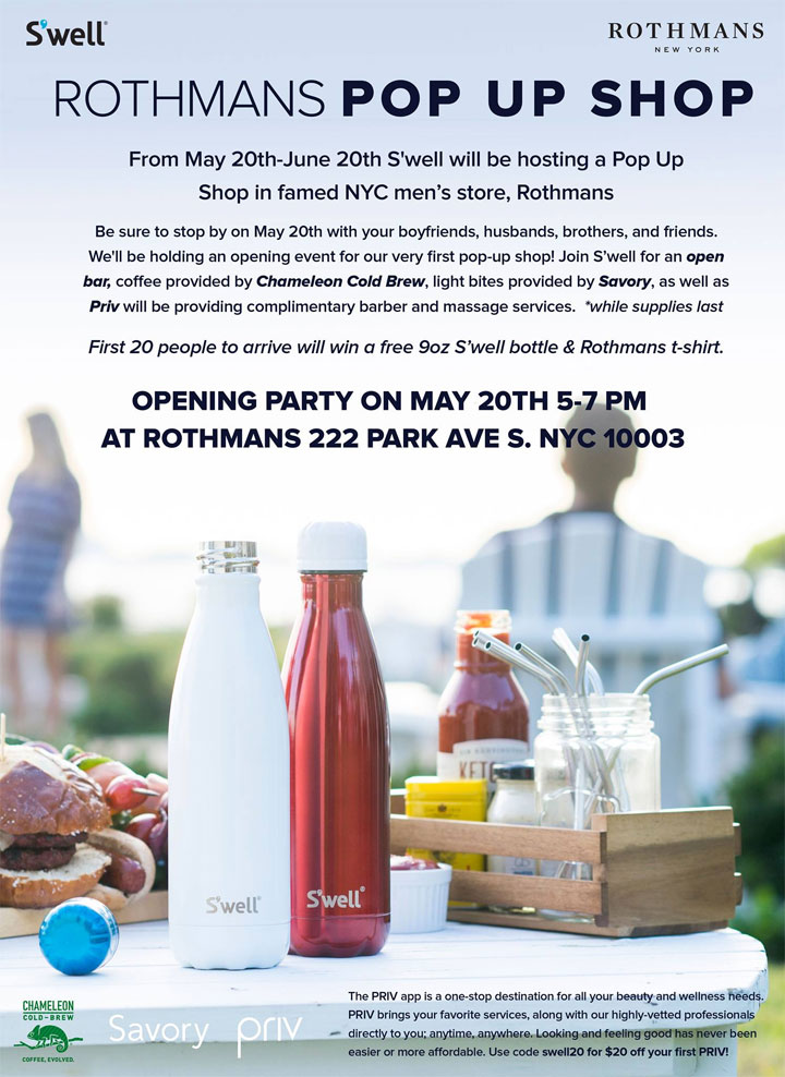 S'well Pop-up Shop Shopping Party