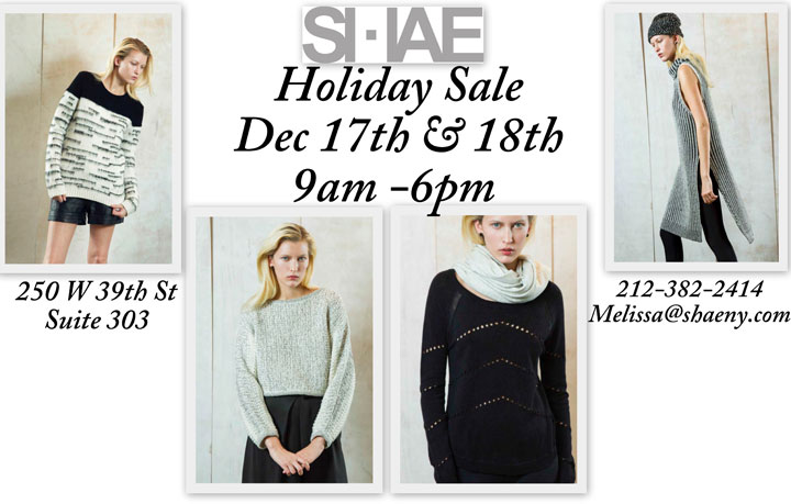SHAE Holiday Sample Sale