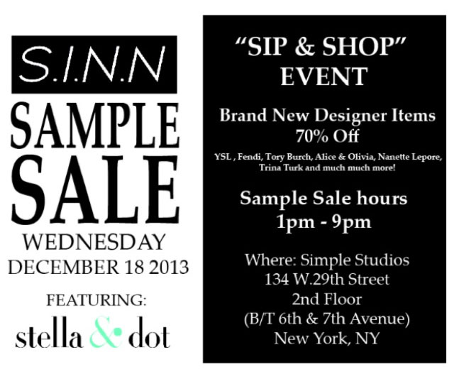 S.I.N.N. Sample Sale