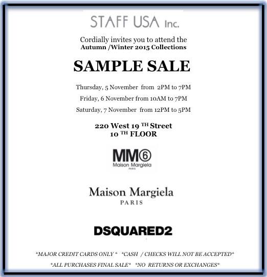 Maison Margiela + MM6 Maison Margiela + DSQUARED2 Sample Sale