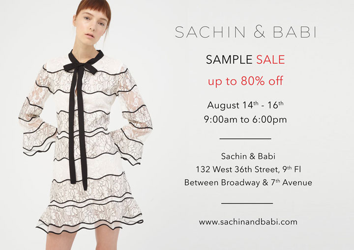 Sachin & Babi Sample Sale