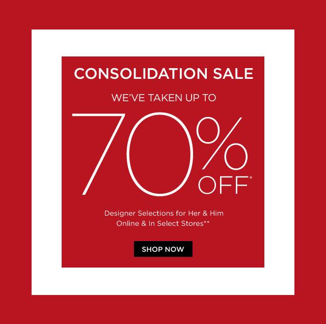 Saks Consolidation Sale