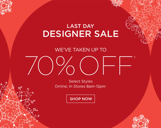 Saks Fifth Avenue After-Christmas Sale