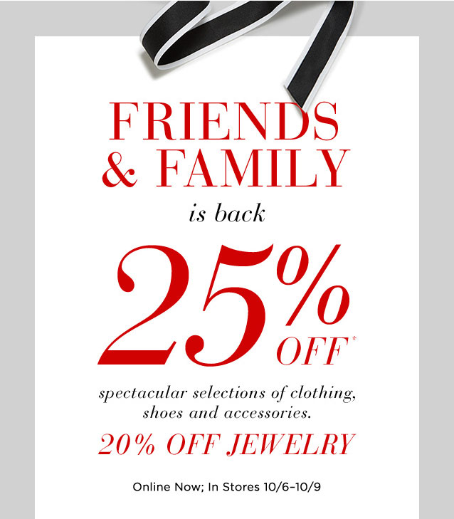 Saks Fifth Avenue Friends & Family Sale