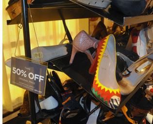 Sales Rack at Bergdorf Goodman Department Store Sale