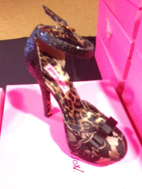 Samantha Black Leopard Lined Heel ($60)