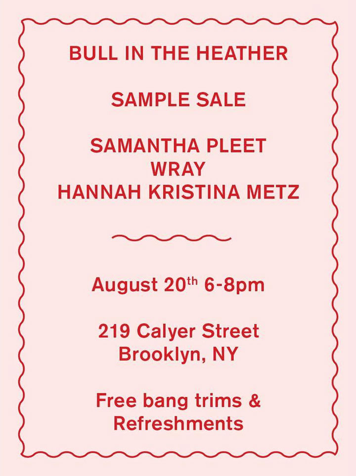 Samantha Pleet & More Sample Sale