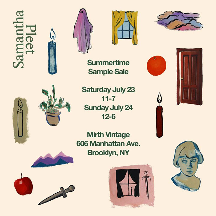 Samantha Pleet Summer Sample Sale