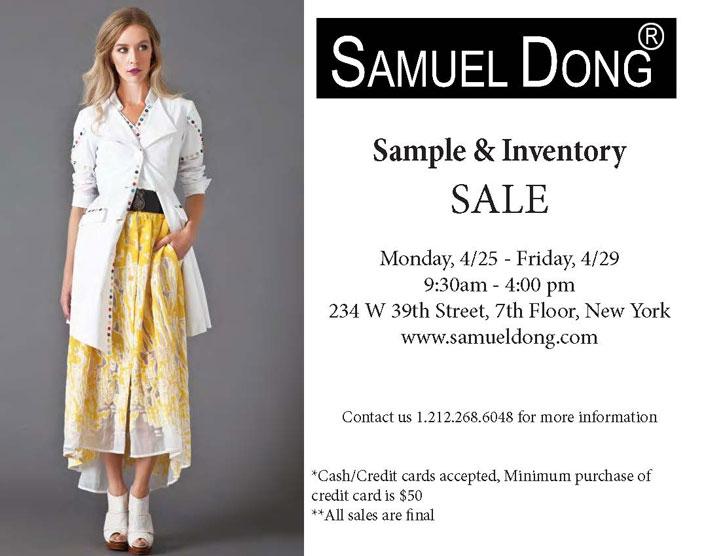 Samuel Dong Sample Sale
