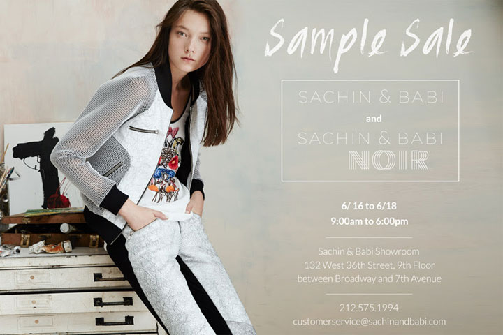Sachin + Babi Sample Sale