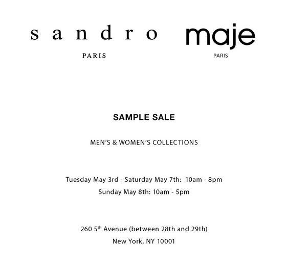 Sandro & Maje Sample Sale