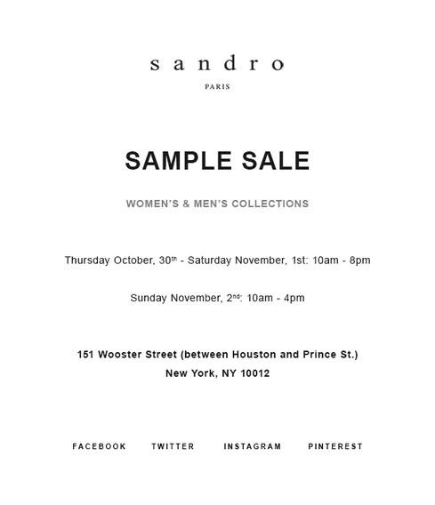 york sample sales