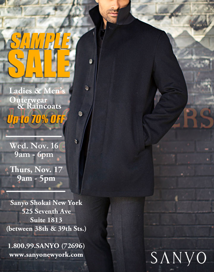 Sanyo New York Sample Sale