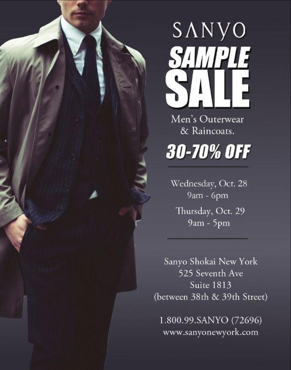 Sanyo New York Outerwear NY Sample Sale - TheStylishCity.com