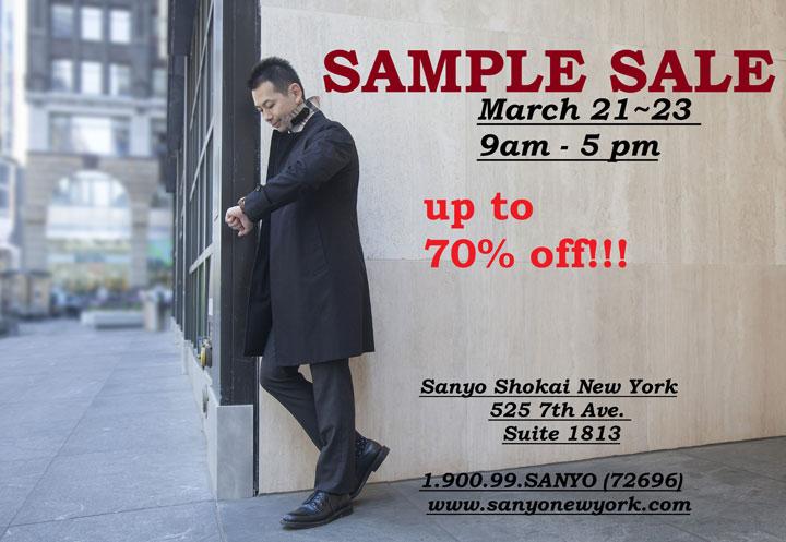 Sanyo New York Sample Sale