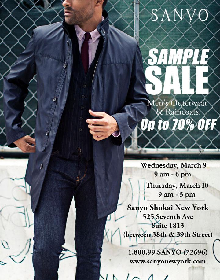 Sanyo New York Spring 2016 Sample Sale