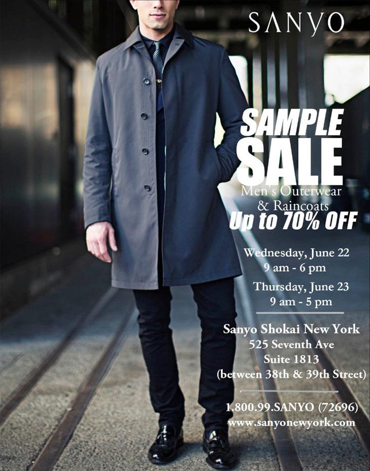 Sanyo New York Summer/Pre-Fall Sample Sale
