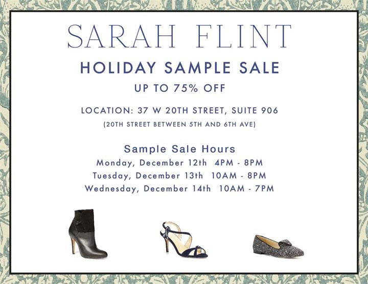 Sarah Flint Holiday Sample Sale