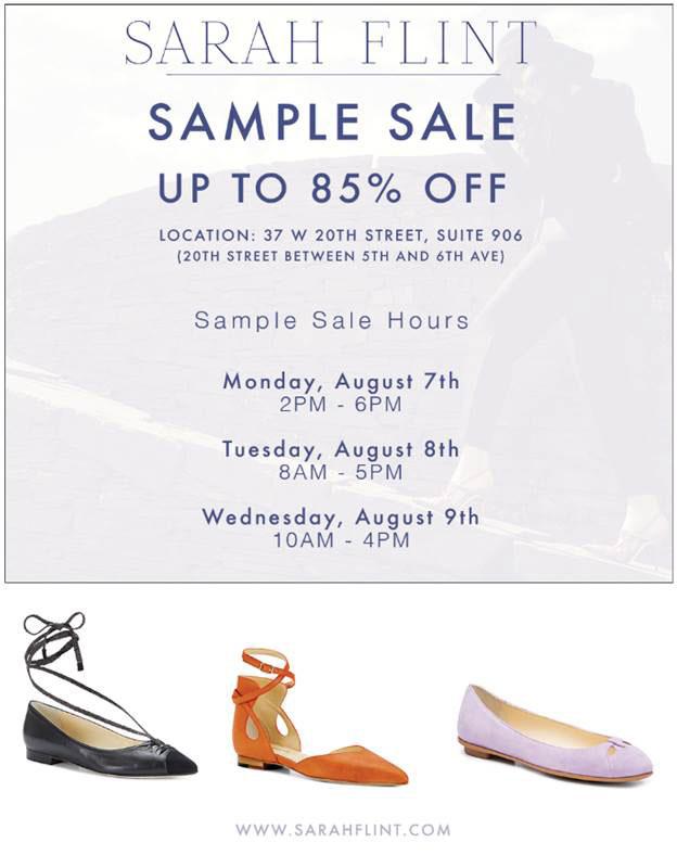 Sarah Flint Summer Sample Sale