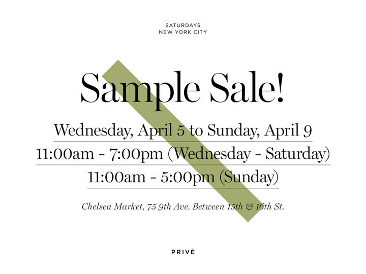 Saturdays NYC Sample Sale