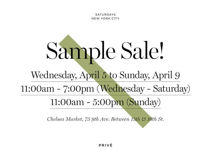 Saturdays NYC Sample Sale