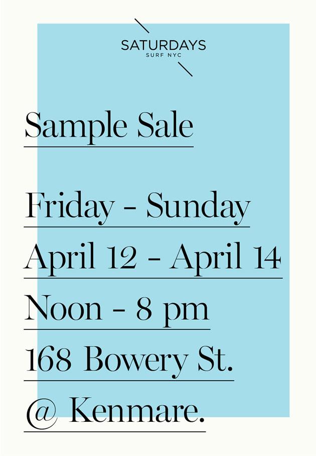 Saturdays Surf NYC Sample Sale