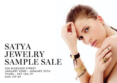 Satya Jewelry Sample Sale